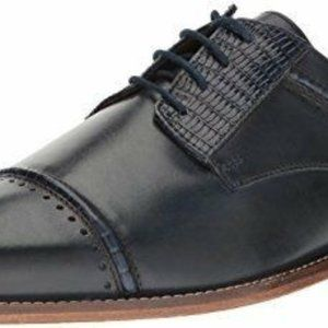 Stacy Adams blue leather mens dress formal shoes